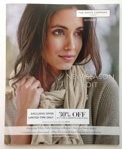 Media Scan for The White Company Catalog Blow-In