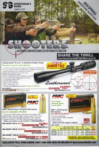 Media Scan for Sportsman's Guide Ammo / Shooter's Catalog Blow In