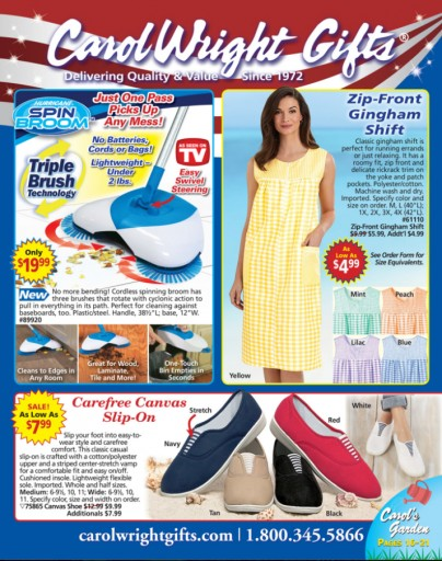 Media Scan for Carol Wright Gifts Blow-In
