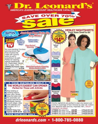 Media Scan for Dr. Leonard's Healthcare Catalog Blow-In