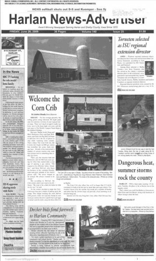Media Scan for Harlan News-Advertiser