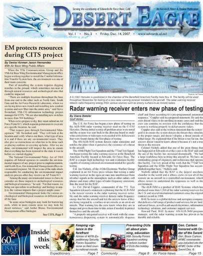 Media Scan for Edwards AFB Desert Eagle
