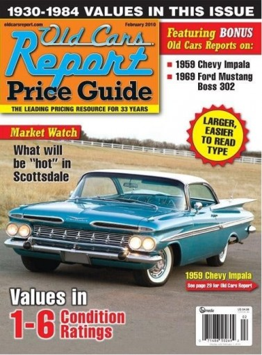 Media Scan for Old Cars Report Price Guide
