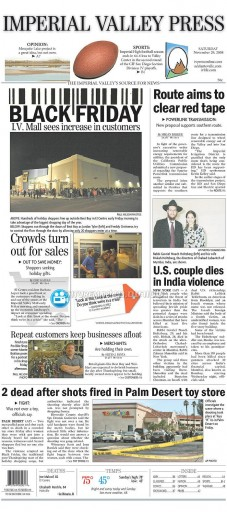 Media Scan for El Centro Imperial Valley Press