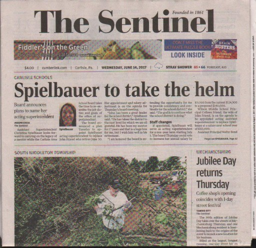 Media Scan for Carlisle Daily Sentinel