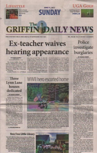Media Scan for Griffin Daily News