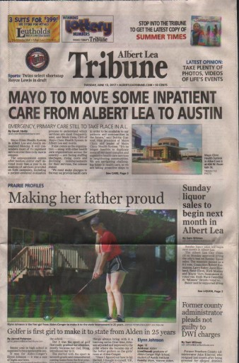 Media Scan for Albert Lea Tribune