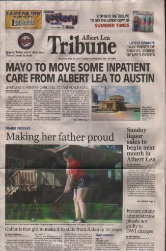 Media Scan for Albert Lea Tribune