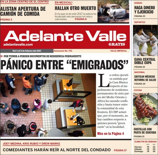 Media Scan for Adelante Valle- Yuma
