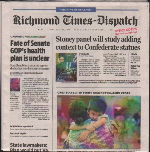 Media Scan for Richmond Times-Dispatch