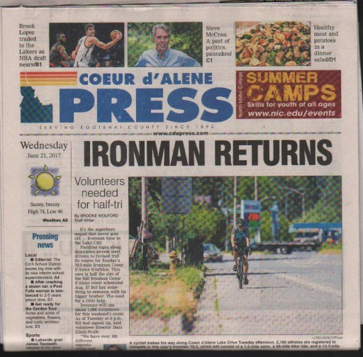 Media Scan for Coeur D'Alene Press - Big Deals Wednesday TMC