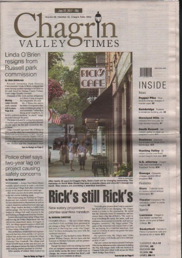 Media Scan for Chagrin Valley Times