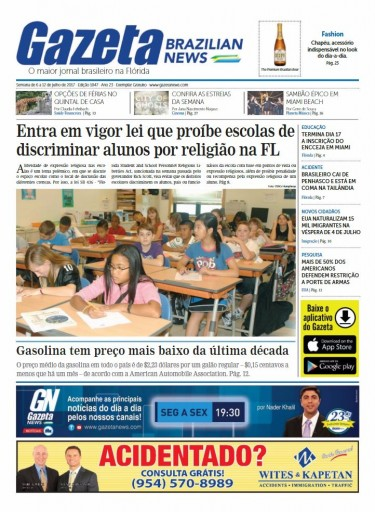 Media Scan for Gazeta Brazilian News- Miami