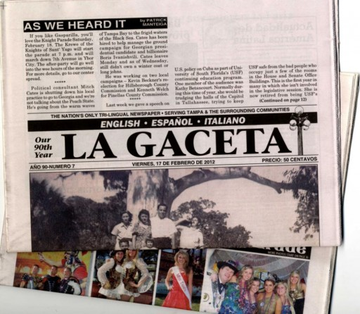 Media Scan for La Gaceta - Tampa