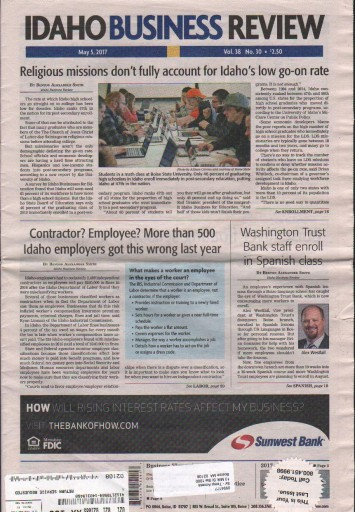 Media Scan for Idaho Business Review