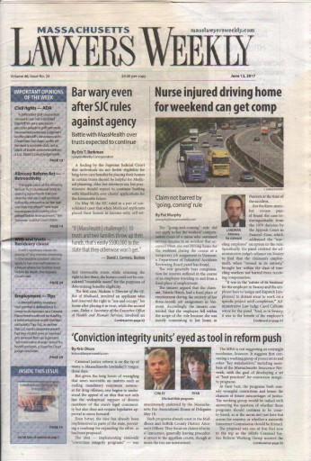 Media Scan for Massachusetts Lawyer Weekly