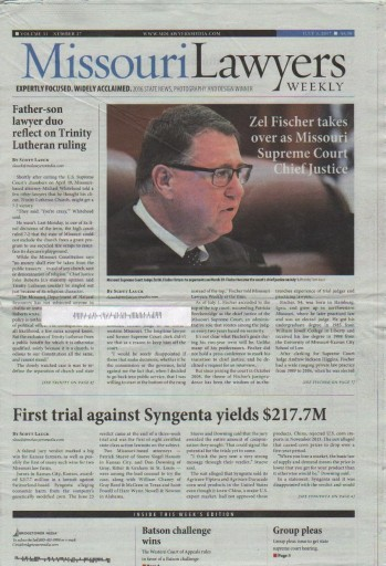 Media Scan for Missouri Lawyers Weekly