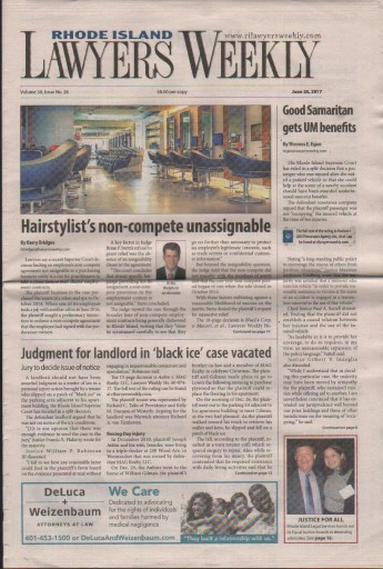 Media Scan for Rhode Island Lawyers Weekly