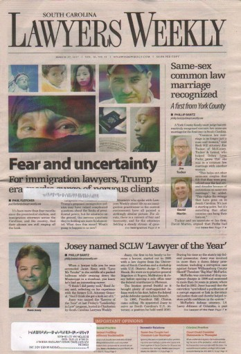 Media Scan for South Carolina Lawyers Weekly