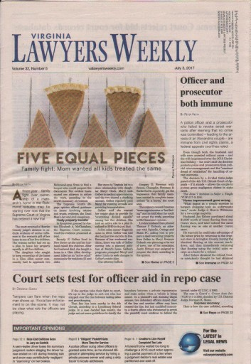 Media Scan for Virginia Lawyers Weekly