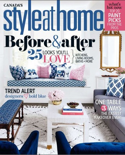 Media Scan for Style at Home Magazine