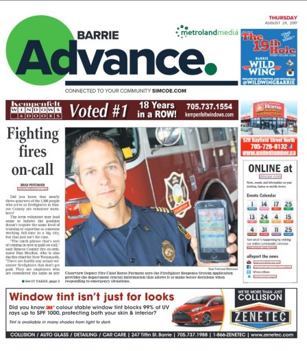 Media Scan for Barrie Advance- Ontario