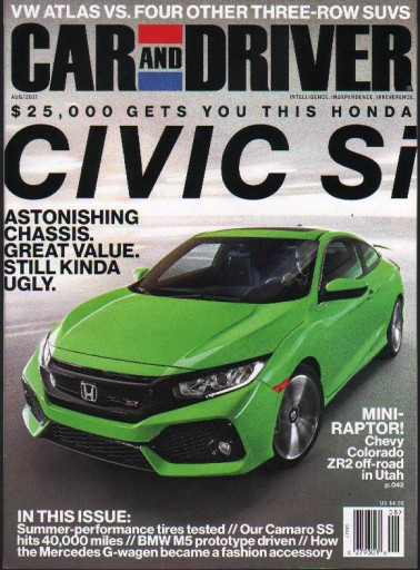 Media Scan for Car and Driver Magazine