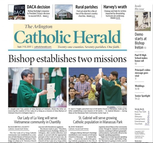 Media Scan for Arlington Catholic Herald