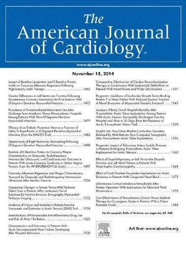 Media Scan for The American Journal of Cardiology