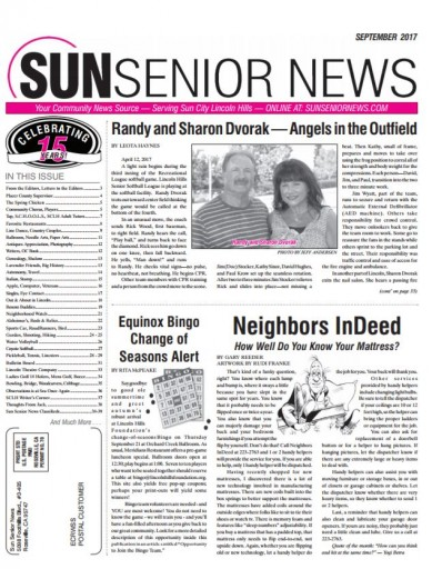 Media Scan for Sun Senior News - Lincoln Hills