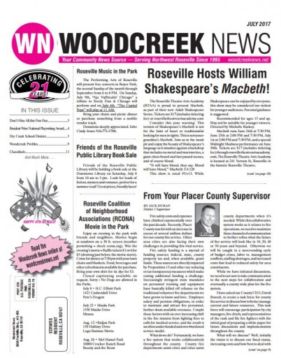 Media Scan for Woodcreek News
