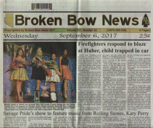 Media Scan for Broken Bow News