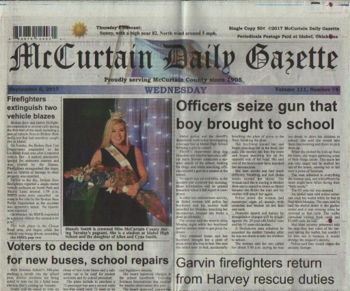 Media Scan for Idabel McCurtain Daily Gazette