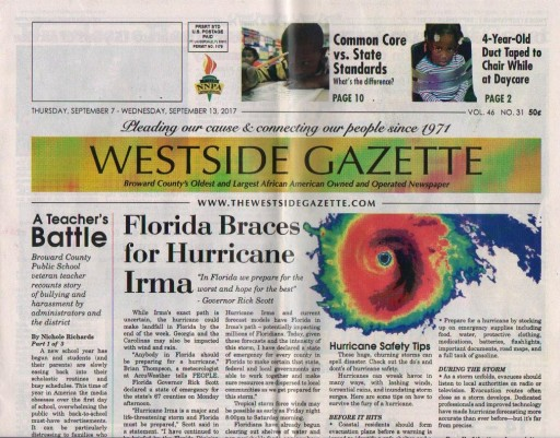 Media Scan for Ft. Lauderdale Westside Gazette