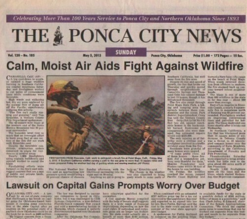 Media Scan for Ponca City News