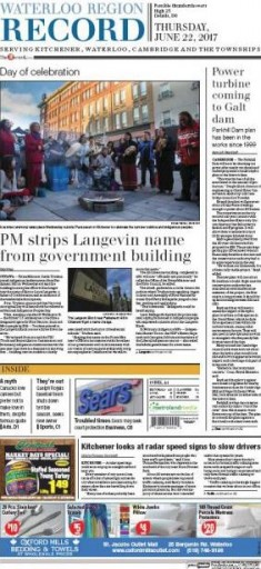 Media Scan for Kitchener Waterloo Record