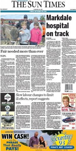 Media Scan for Owen Sound Sun Times