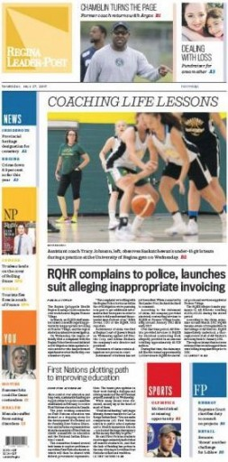 Media Scan for Regina Leader Post