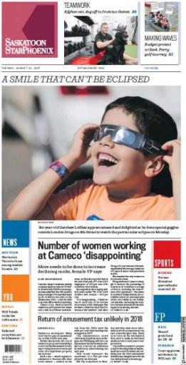 Media Scan for Saskatoon Star Phoenix