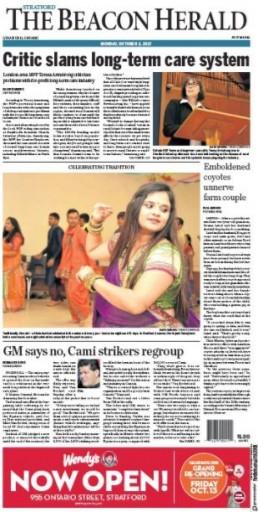 Media Scan for Stratford Beacon Herald