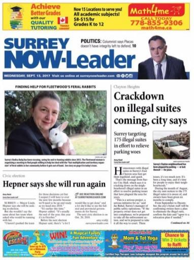 Media Scan for Surrey Leader