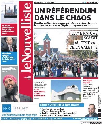 Media Scan for Trois Riviers Le Nouvelliste