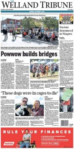 Media Scan for Welland Tribune