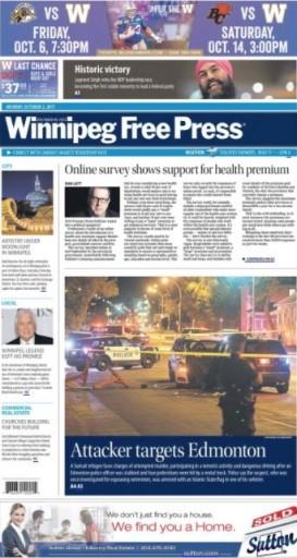 Media Scan for Winnipeg Free Press