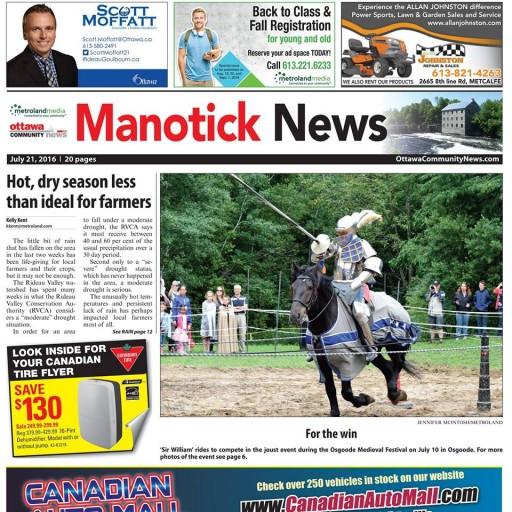 Media Scan for Manotick News
