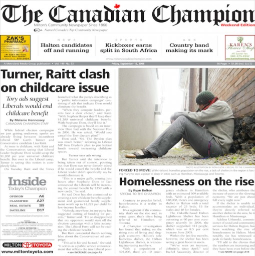 Media Scan for Milton Canadian Champion