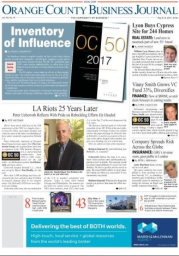 Media Scan for Orange County Business Journal