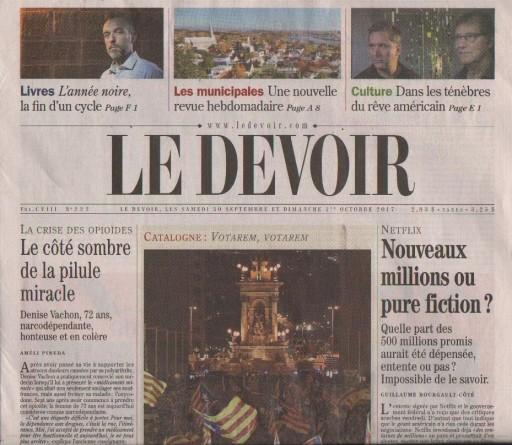 Media Scan for Montreal Le Devoir