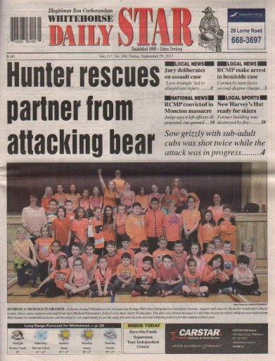 Media Scan for Whitehorse Daily Star