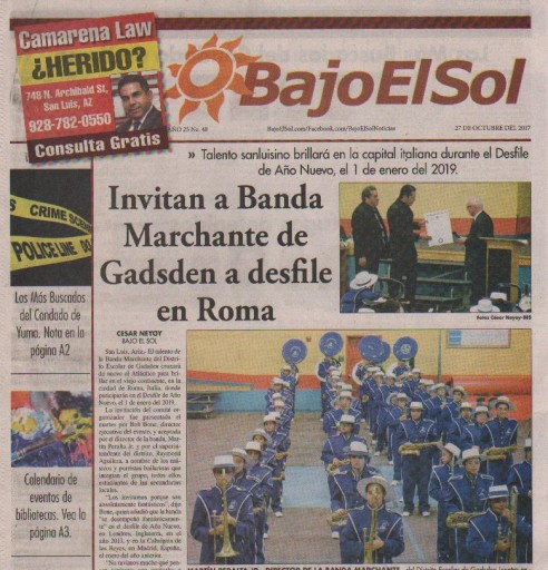 Media Scan for Bajo El Sol - Yuma